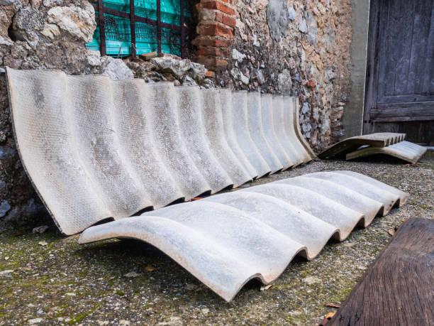 Asbestos cover elements - foto stock