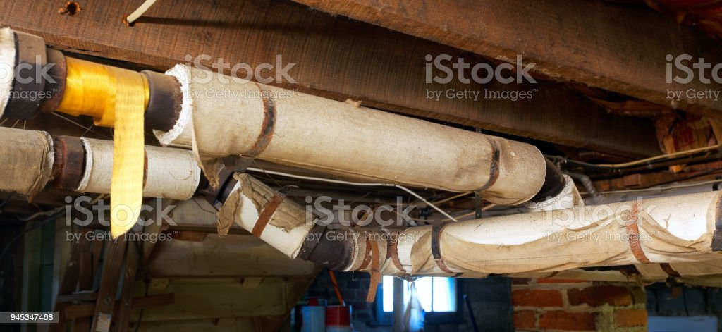 Asbestos Pipes stock photo