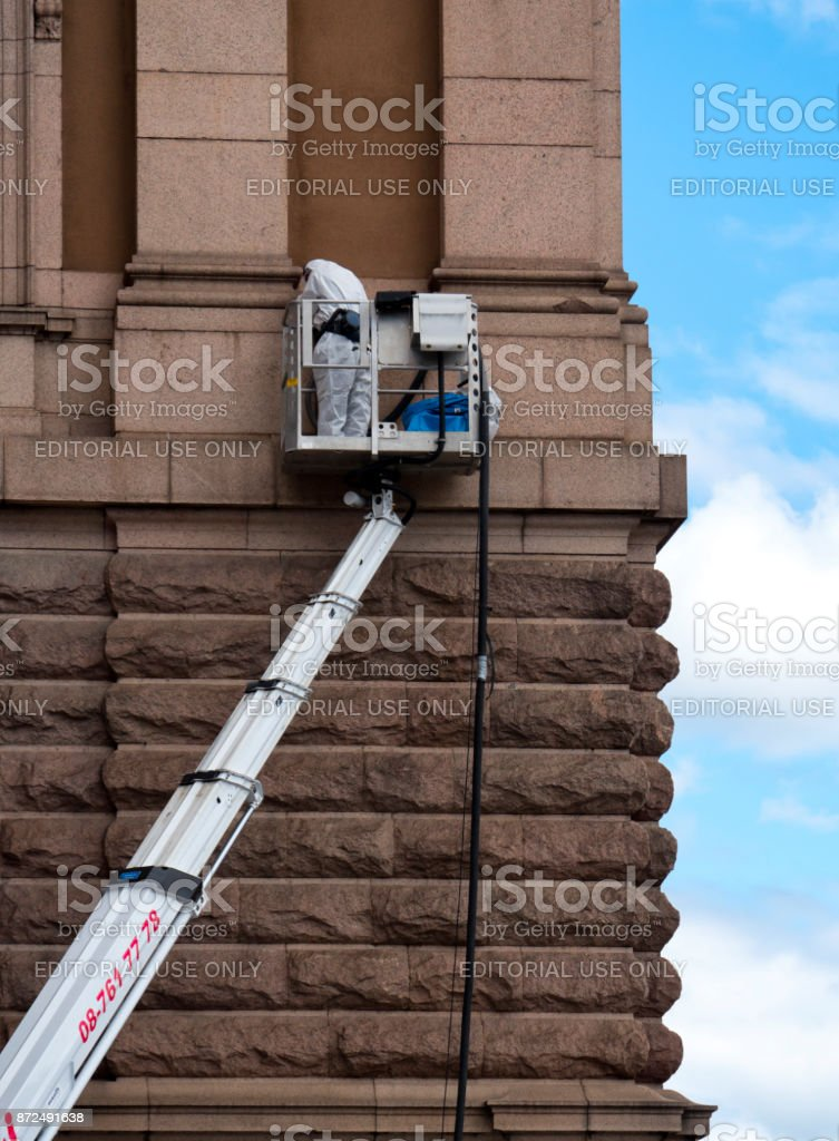 Asbestos removal in Stockholm stock photo
