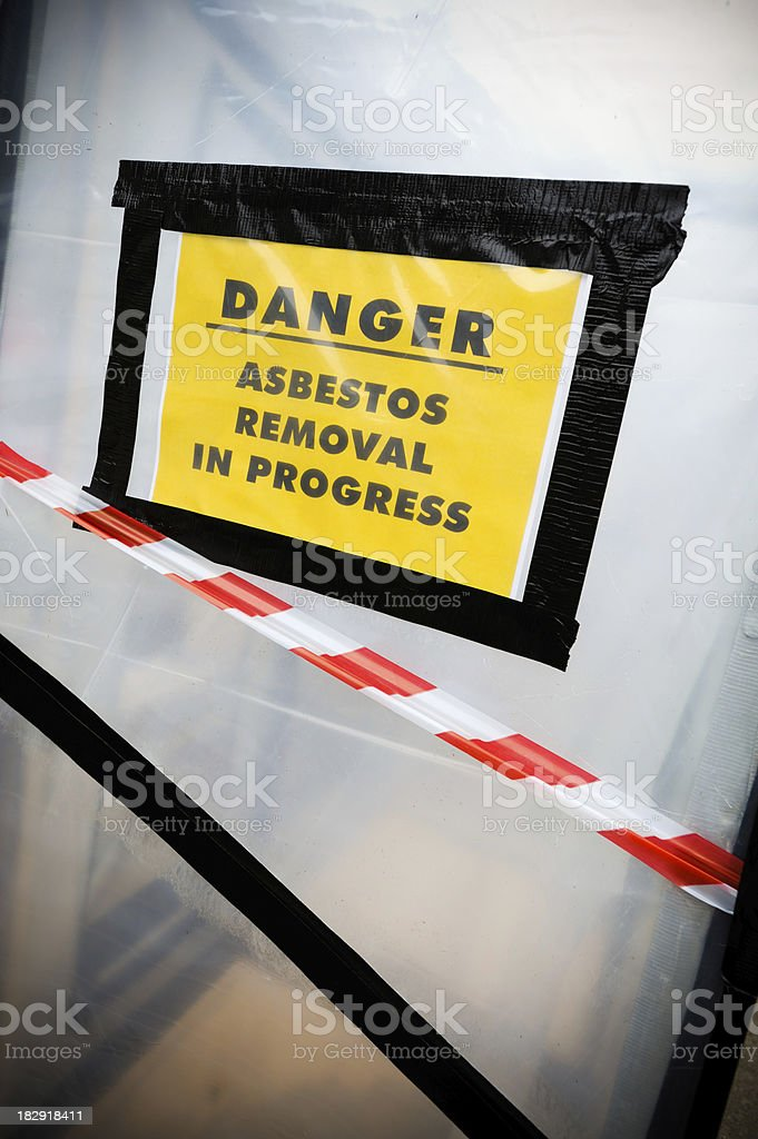 Asbestos Removal royalty-free stock photo