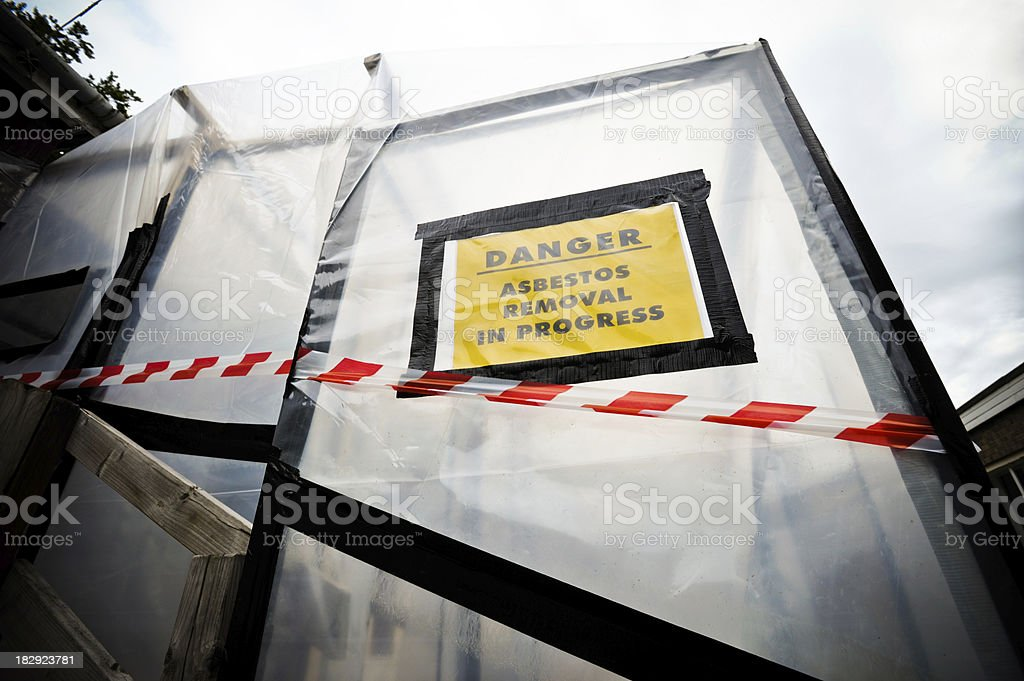 Asbestos Removal stock photo
