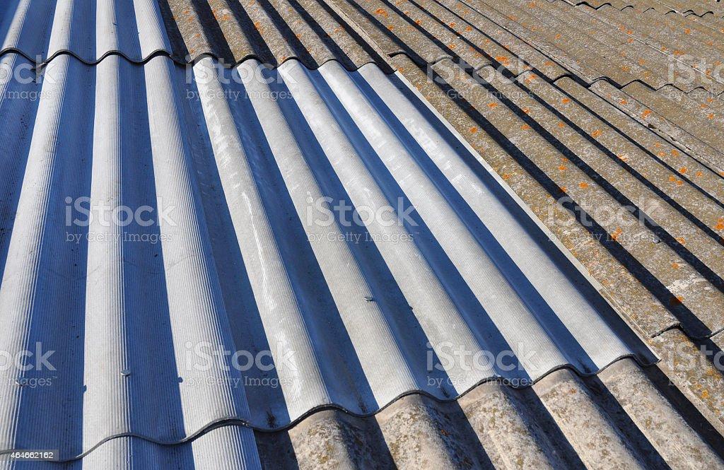 Asbestos Roof Background stock photo