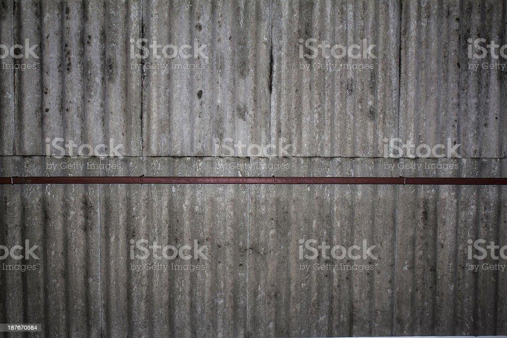 Asbestos Roof stock photo