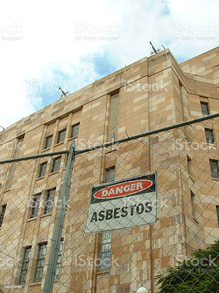 Asbestos sandstone stock photo