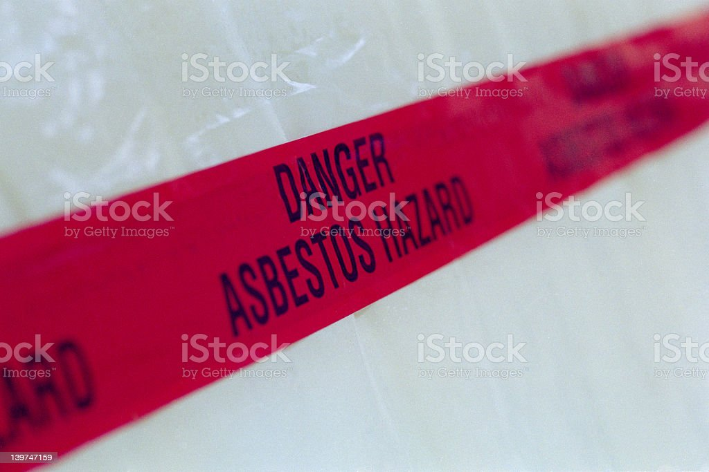 Asbestos Tape stock photo