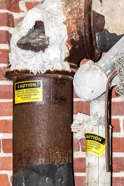 Asbestos Thermal Pipe Insulation stock photo