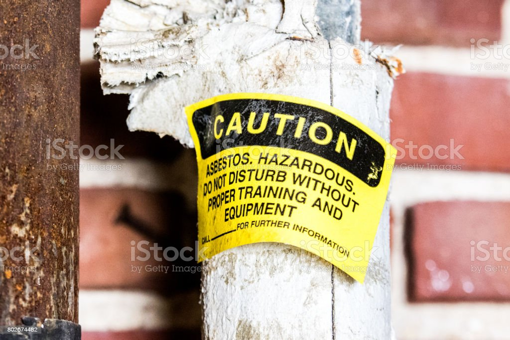 Asbestos Thermal Pipe Insulation stock photo