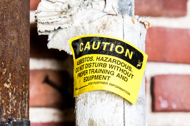 Asbestos Thermal Pipe Insulation - foto stock