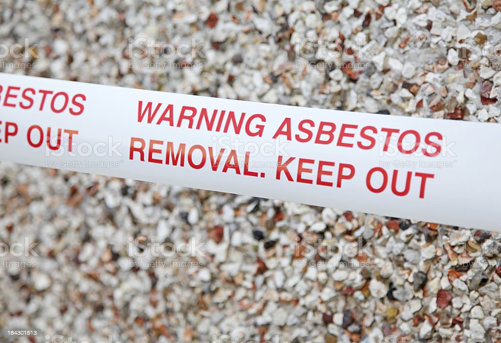 asbestos warning tape royalty-free stock photo