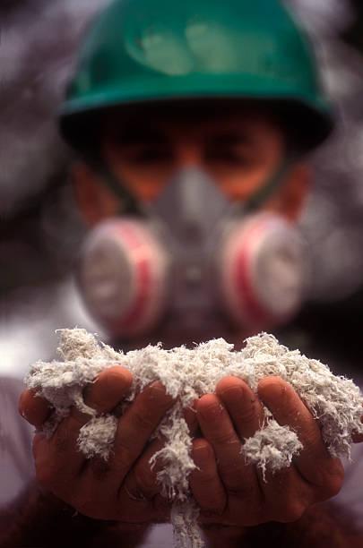 Asbestos worker stock photo