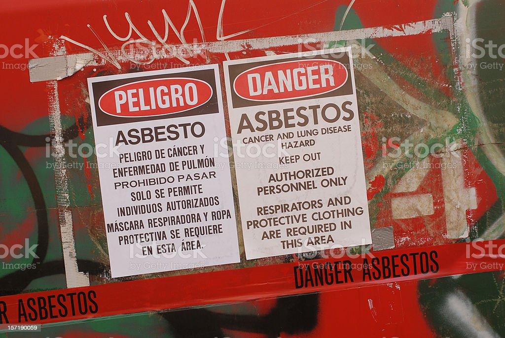 Asbestos Zone royalty-free stock photo
