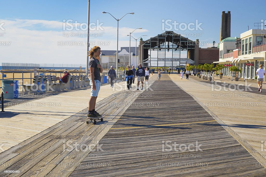 Asbury Park Boardwalk stock photo