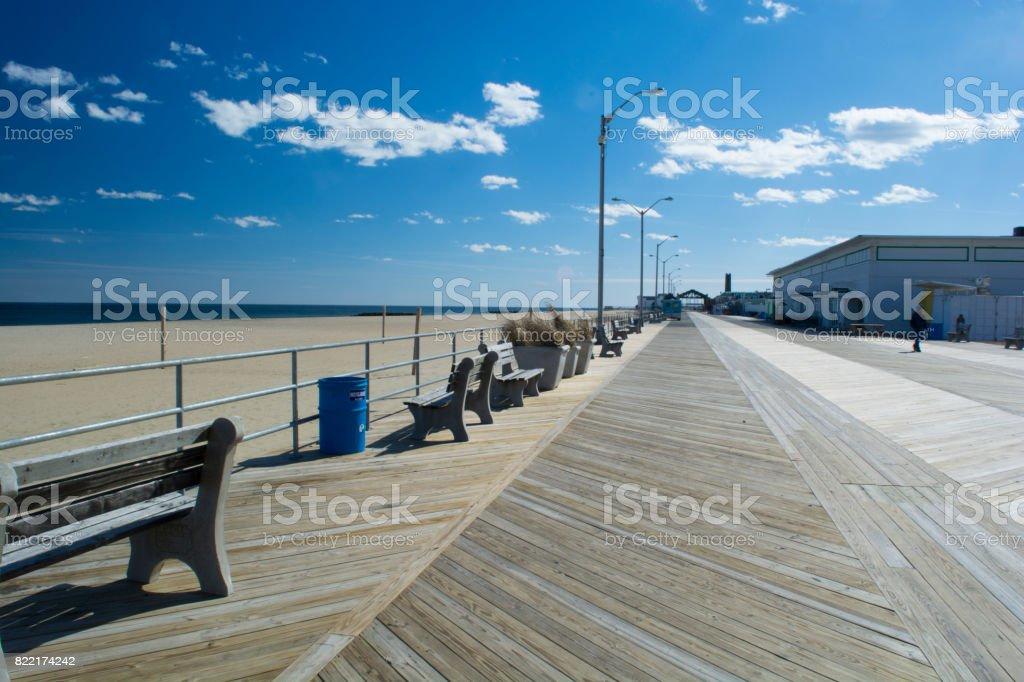 Asbury Park boardwalk stock photo