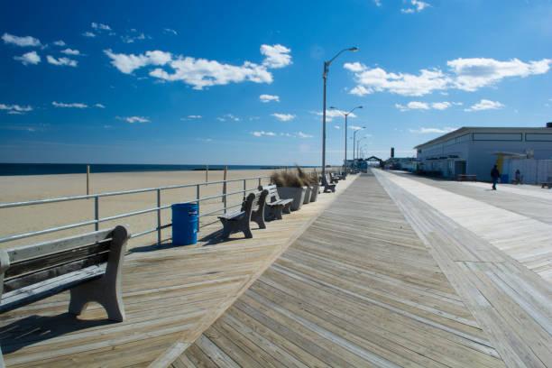 Asbury Park boardwalk Asbury Park, NJ boardwalk boardwalk stock pictures, royalty-free photos & images