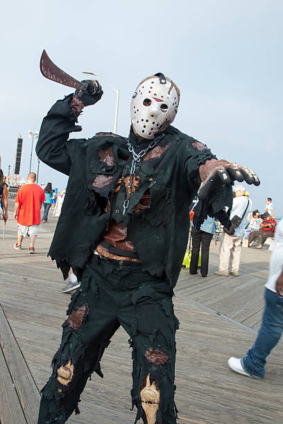 Asbury Park Zombie Walk 2013 - Jason Zombie stock photo