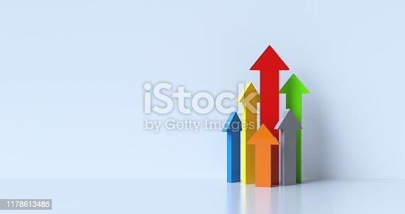 istock Ascending Arrows 1178613485