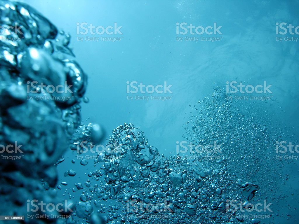 Ascending Bubbles royalty-free stock photo