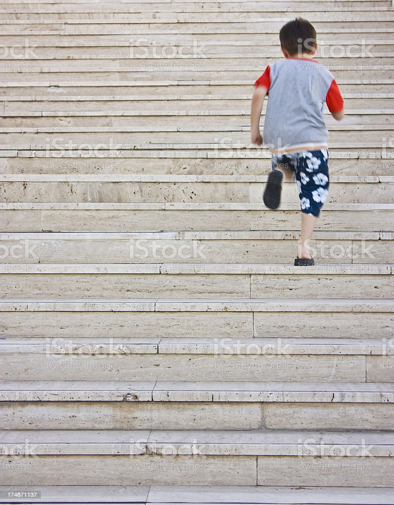 Ascending to stair stock photo
