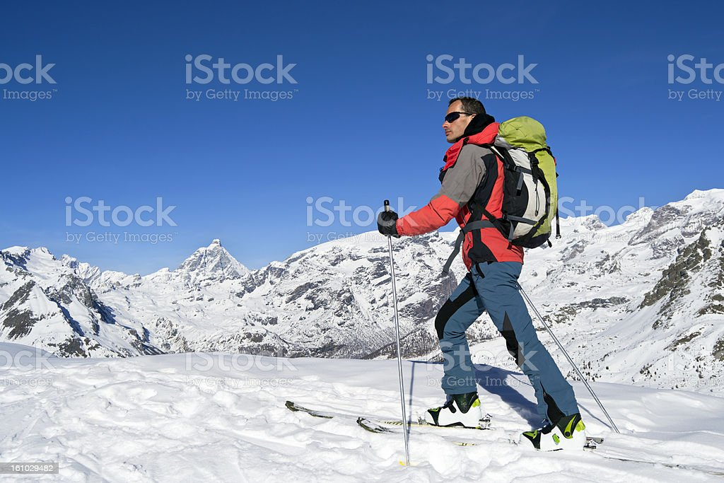 Ascending to the top stock photo