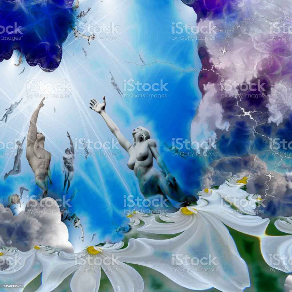 Ascendings peoples royalty-free stock photo