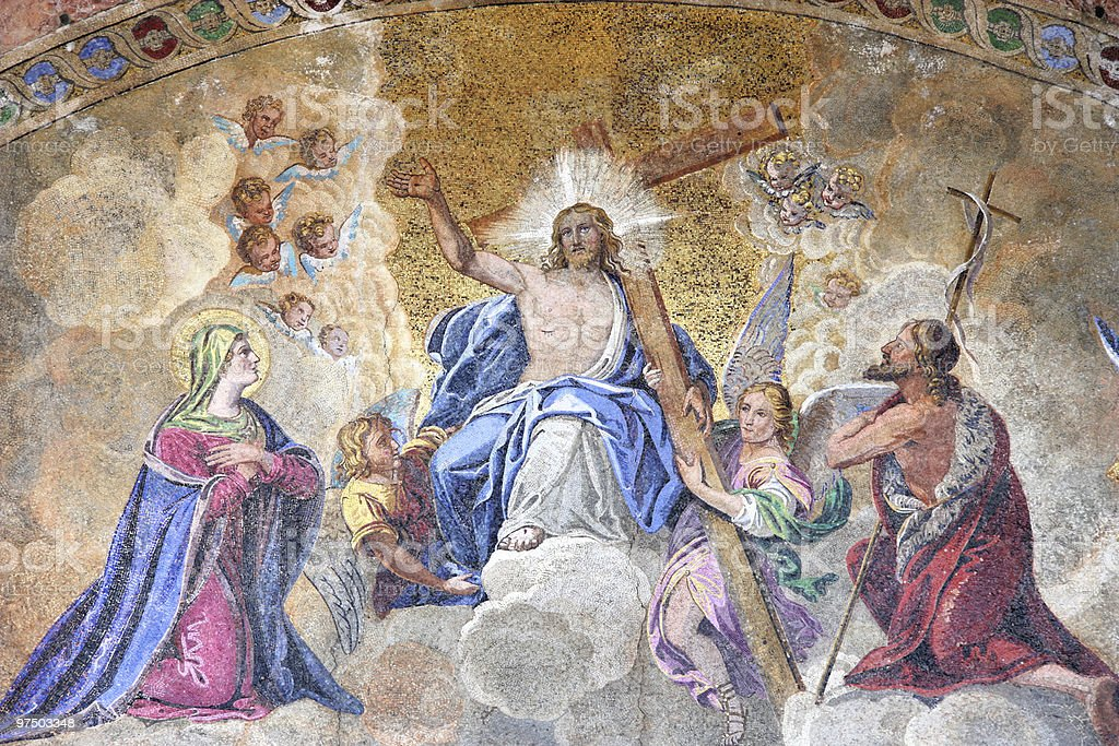 Ascension of Jesus Christ royalty-free stock photo