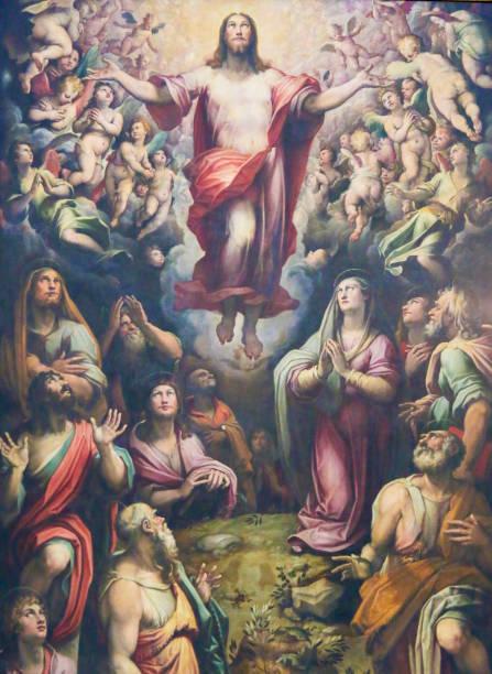 himmelfahrt jesu christi, santa croce, florenz - messias stock-fotos und bilder