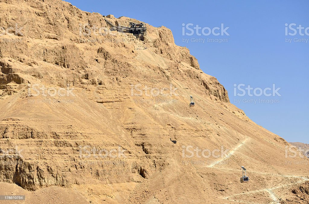 Ascent on Masada stronghold, Israel. royalty-free stock photo