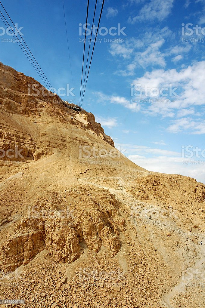 Ascent to Masada royalty-free stock photo