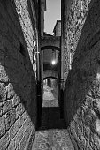 istock Ascoli Piceno (Marches, Italy), alley by night 878508540