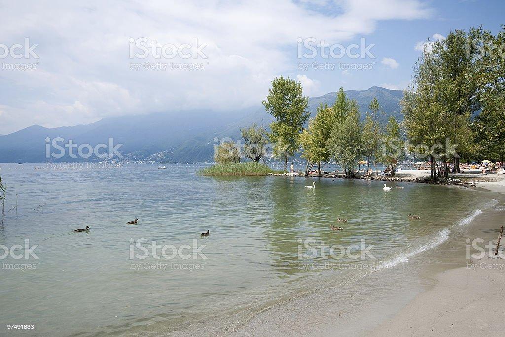 Ascona Beach royalty-free stock photo