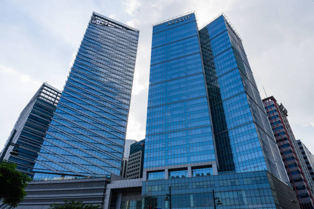 Ascott apartment hotel building in Bonifacio Global City of Philippines stock photo