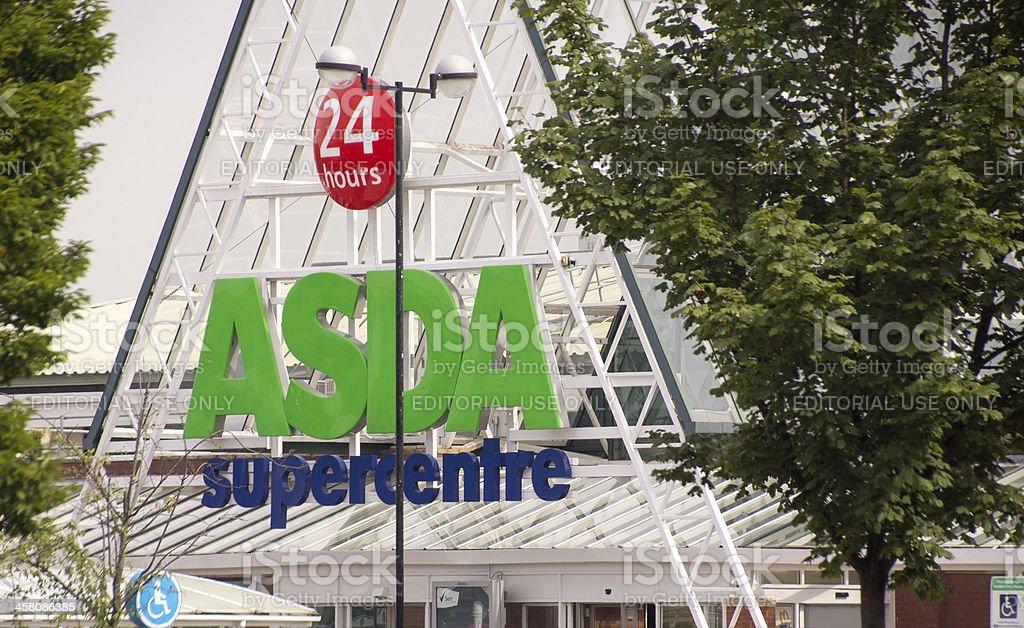 Asda 24 hours Supercentre stock photo