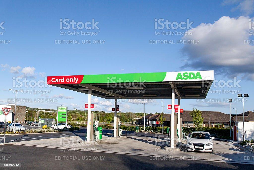 Asda - Petrol Station stock photo