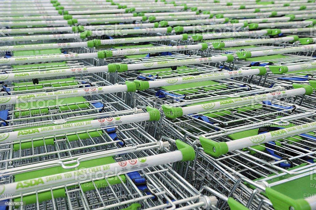Asda Shopping Trolleys stock photo