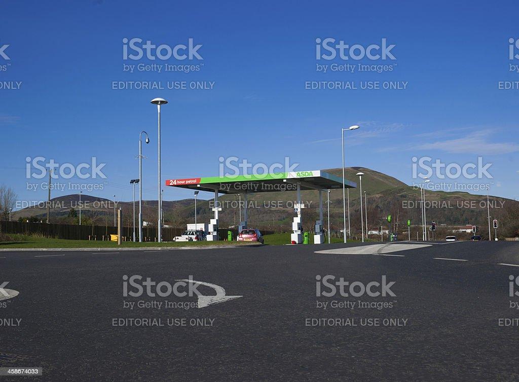 Asda Supermarket Petrol Station, Midlothian stock photo