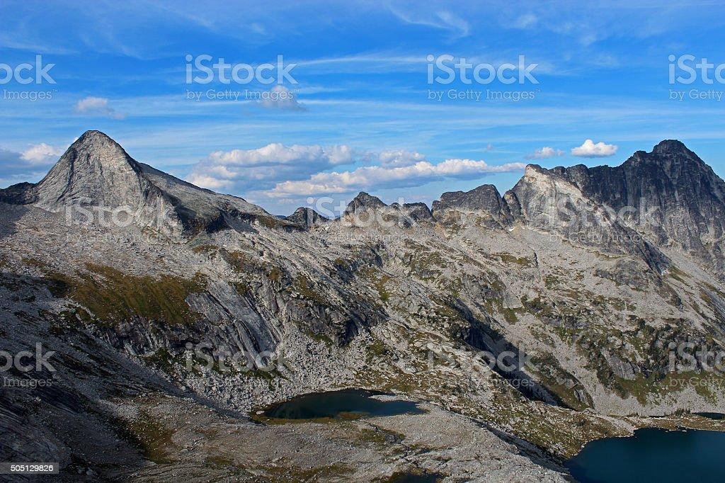 Asgard Peak in Valhallas Ranges stock photo