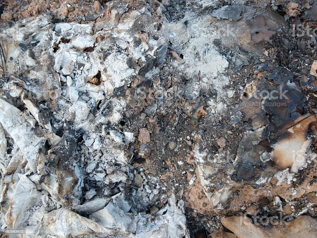 Proprietà Cenere Di Legna cenere sinistra su da bruciare carta tessuto argento legno