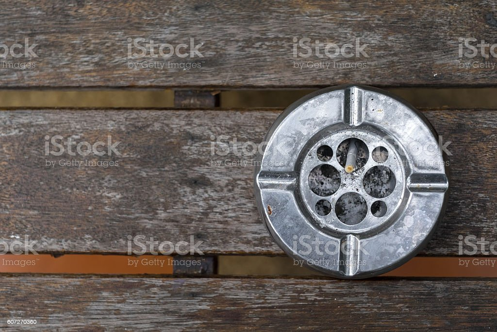 Ash tray stock photo