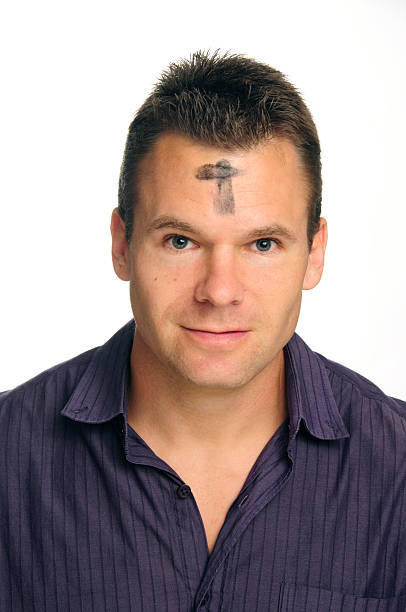 ash wednesday - ash cross stock photos and pictures