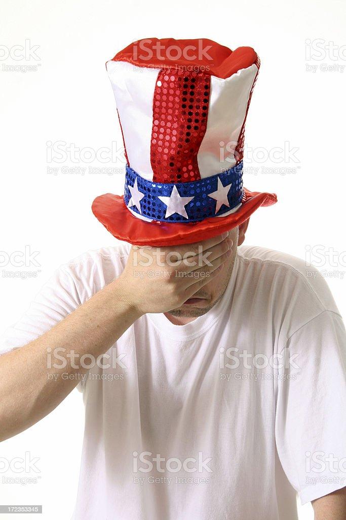 Ashamed American royalty-free stock photo
