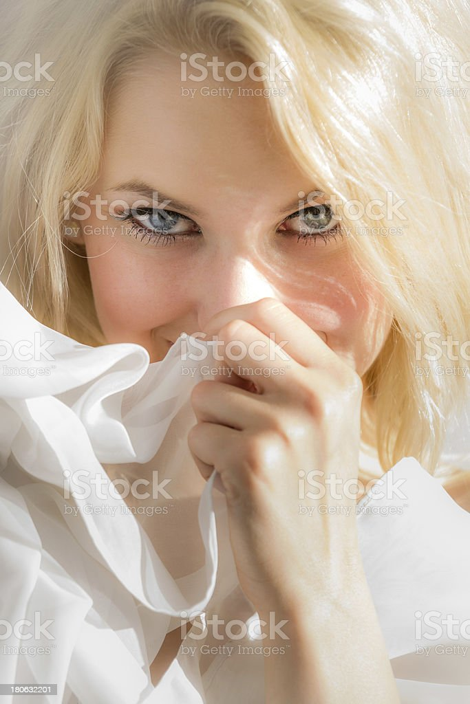 Ashamed face of a young woman royalty-free stock photo