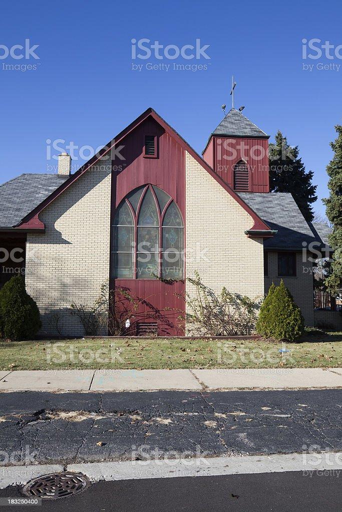 Ashburn United Methodist Church, Chicago royalty-free stock photo