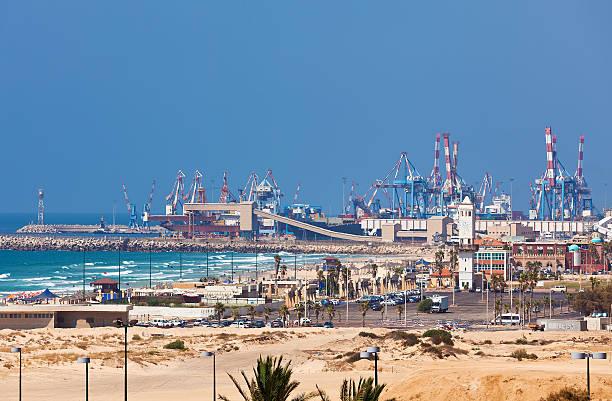 Ashdod seaport view. stock photo