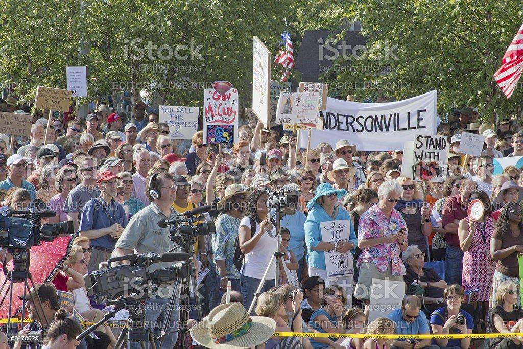 Asheville Moral Monday Political Rally stock photo