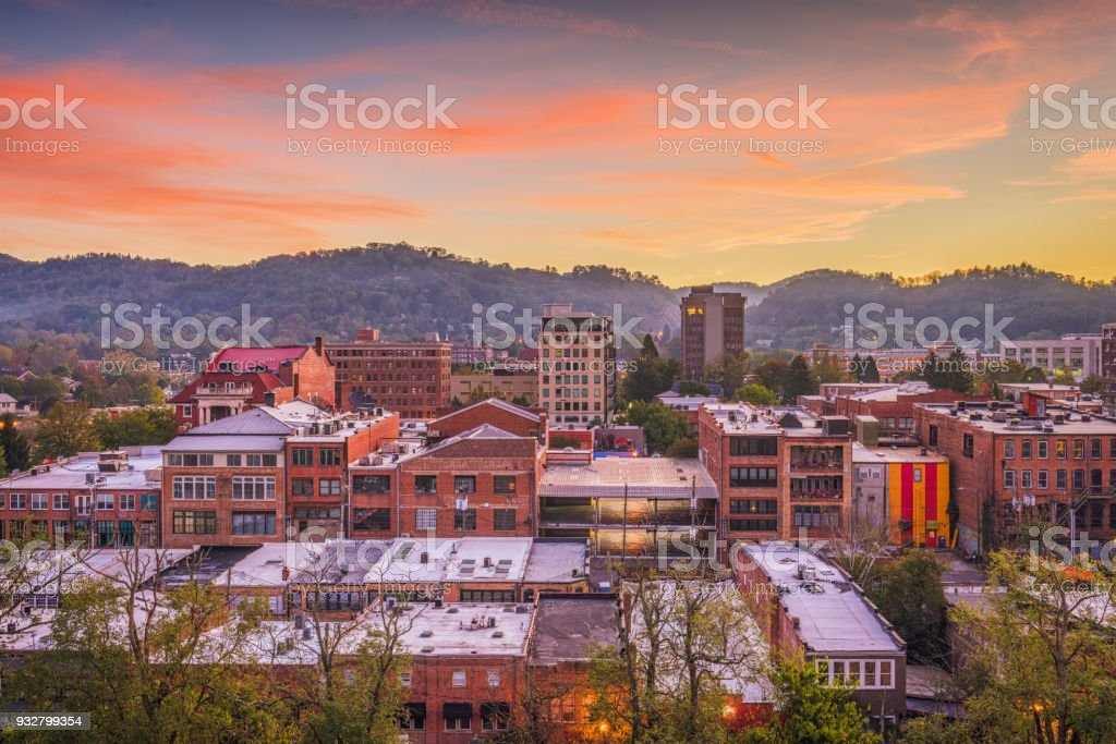 Asheville, North Caroilna, USA Skyline - foto de stock