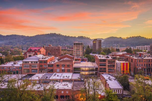Asheville, North Caroilna, USA Skyline - foto de stock