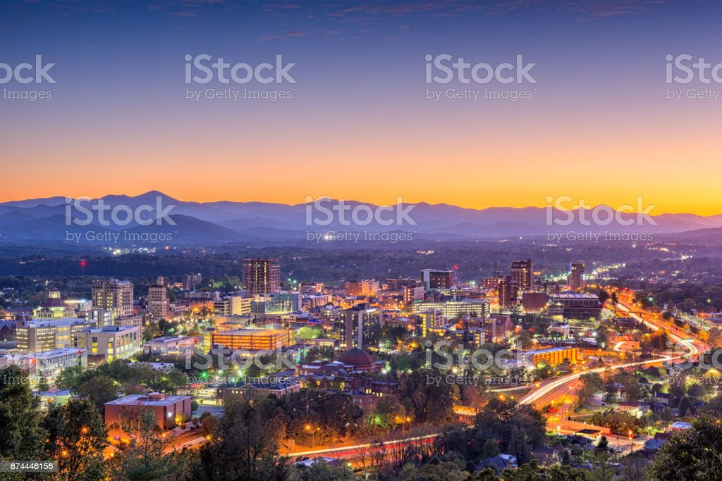 Asheville, North Carolina, USA stock photo