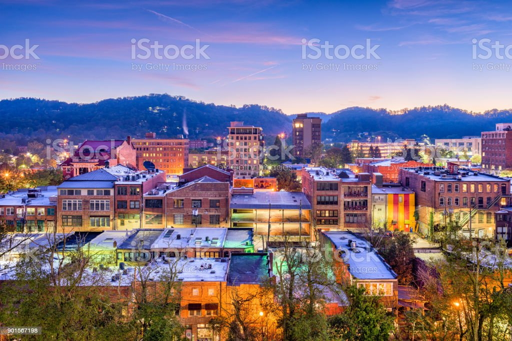 Asheville, Carolina del Norte, EE.UU. - foto de stock