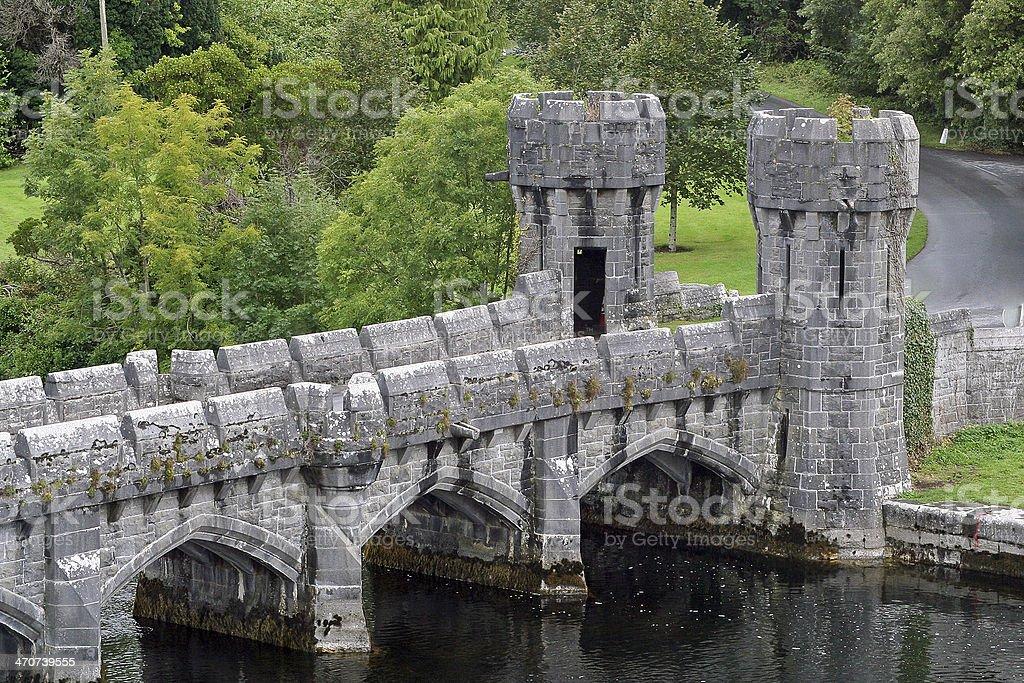 Ashford Castle Bridge stock photo
