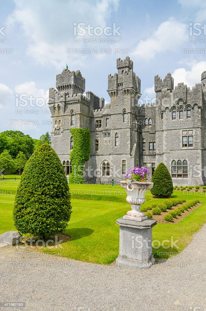 Ashford Castle, Ireland stock photo